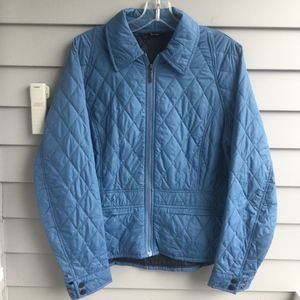 BARBOUR Blue Lambourn Quilted Jacket Sz. 12 Mint!